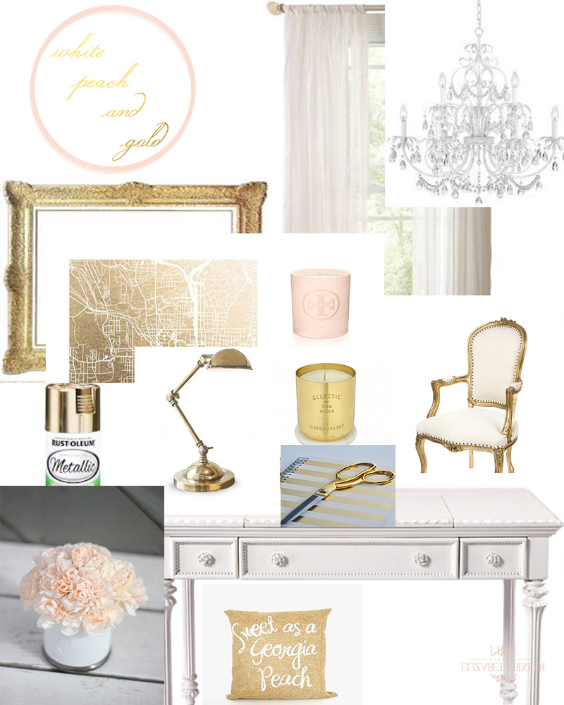 White, Peach, and Gold Office Room Board -