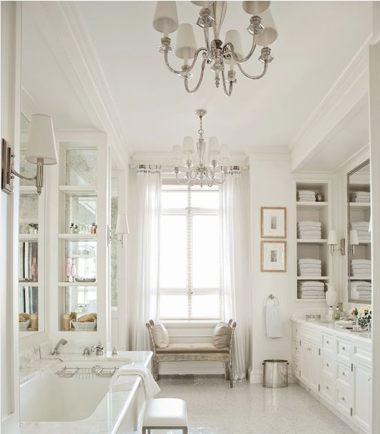 French Country Bathroom Design Collage -