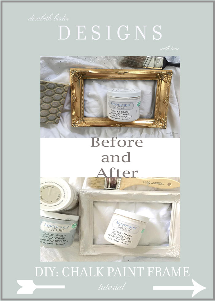 DIY: How to Chalk Paint Frames -