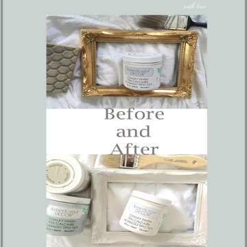 picture frame repurpose with white paint