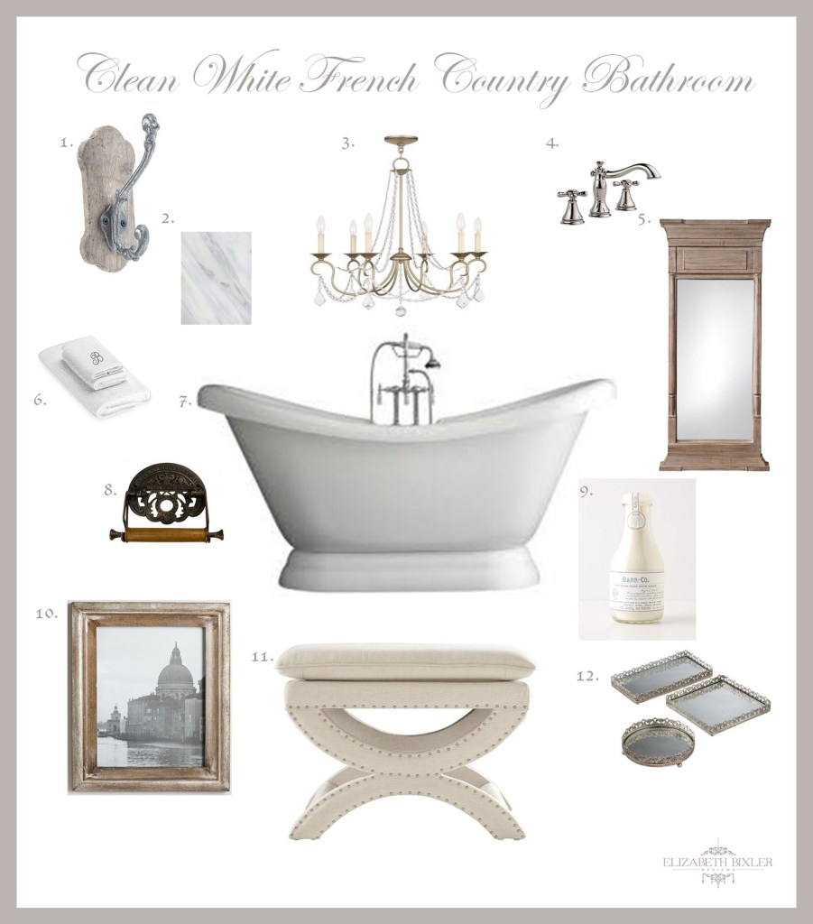 Master Bathroom board and decor collage