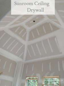 Sunroom Drywall on a Peaked Ceiling