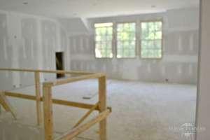 home construction loft area drywall