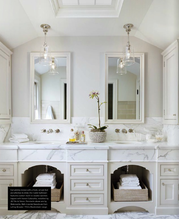 White Classic Bathroom Decor