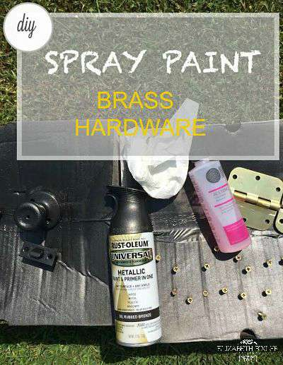 how to spray paint old brass door knobs and hinges