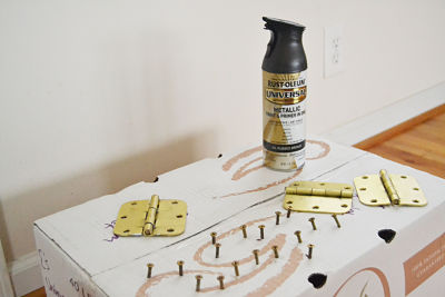 spray paint brass hardware oil rubbed bronze