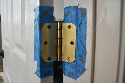 inside tape brass hinges
