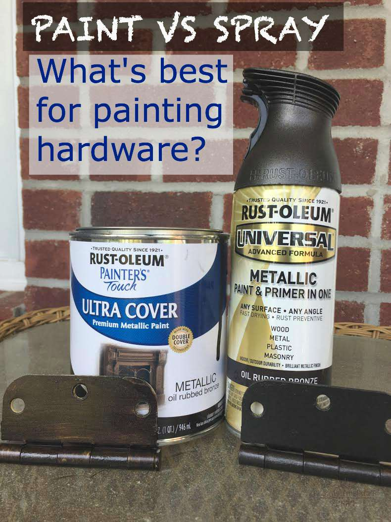 Methods of painting hardware, knobs, hinges