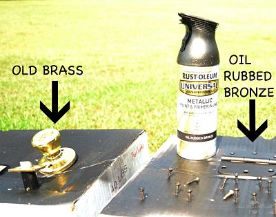 brass knobs versus spray paint bronze knobs