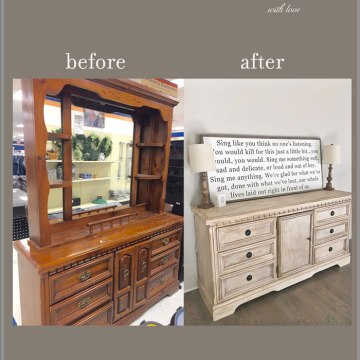 diy paint an old thrift store dresser to look custom french country