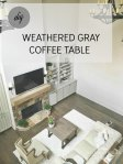 Weathered Gray Coffee Table Stain