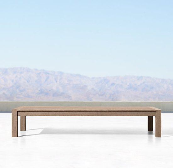 Restoration Hardware Aegean Teak Outdoor Coffee table