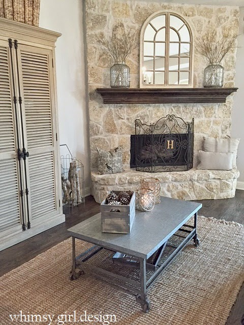 Arch Mirror Fireplace