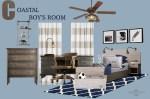 Nautical Boy's Bedroom Mood Board
