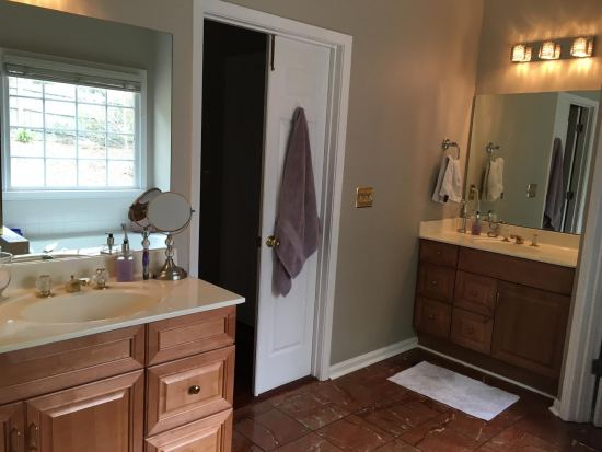 dated bathroom makeover