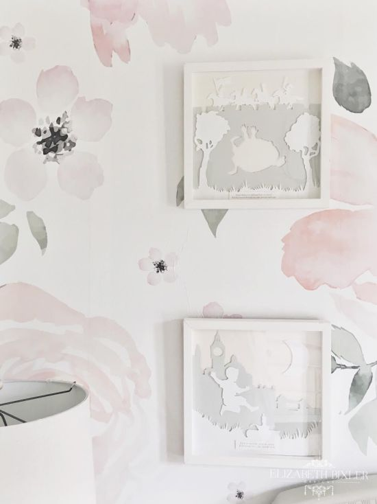 watercolor jolie wallpaper nursery