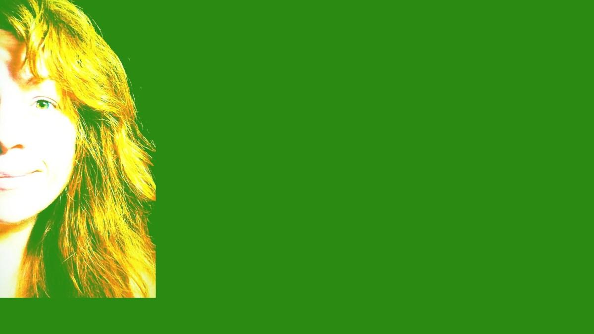 Elizabeth Williams Bushey on a green background