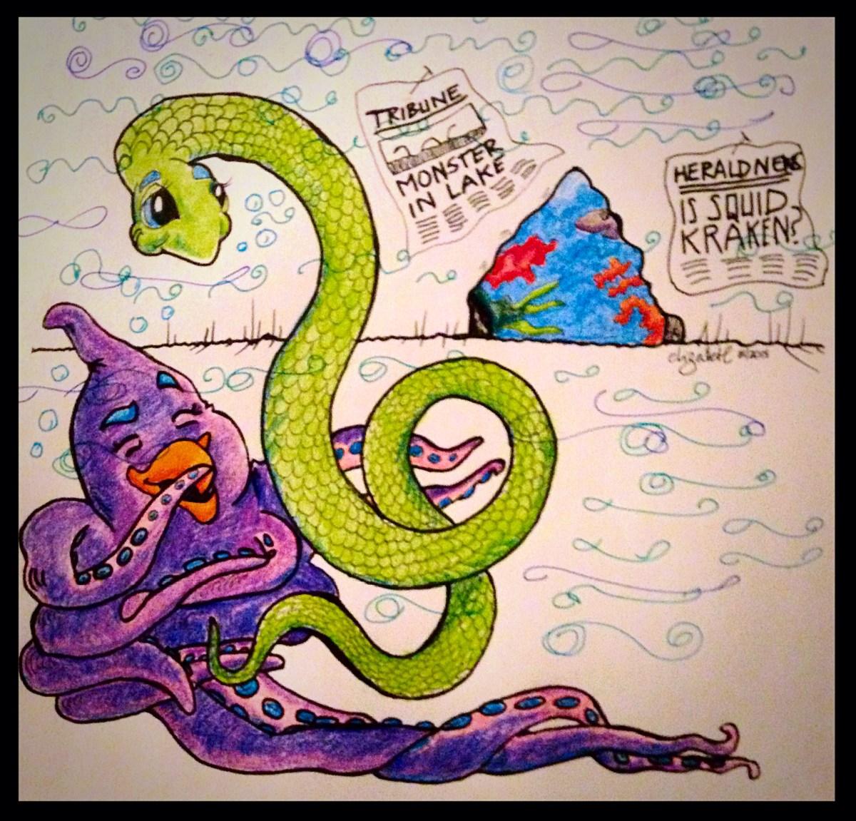 Illustration for Podcast for Kids; Prismacolor markers on Bristol Board