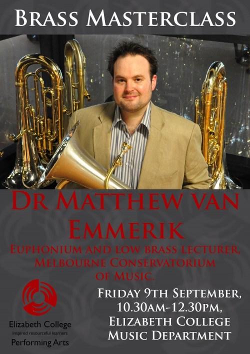 Matthew van Emmerik Master class Elizabeth College