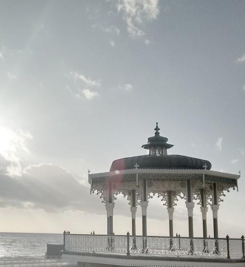 brighton beach, interior design, bandstand, sunset