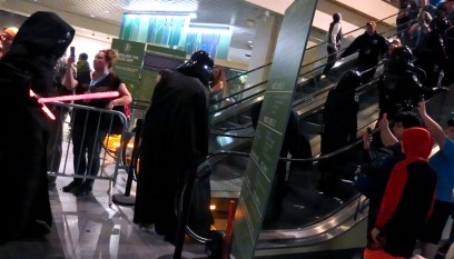 Vaders on escalators