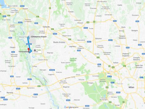 Malpensa to Tornavento