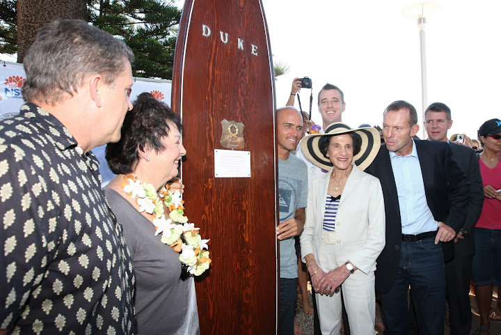 Duke's surfboard, Kelly Slater, Marie Bashir, Tony Abbott and Mike Baird