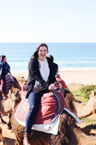riding a camel in Tangier!