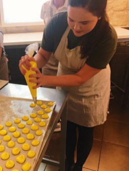 Taking a macaron baking class at Le Foodist in Paris