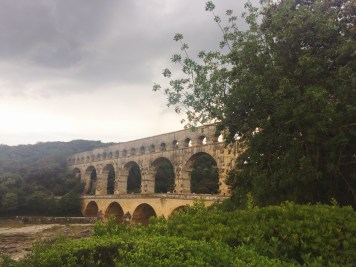 Pont du Gard before nightfall