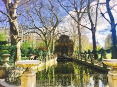 Beautiful fountain at the Luxembourg Gardens