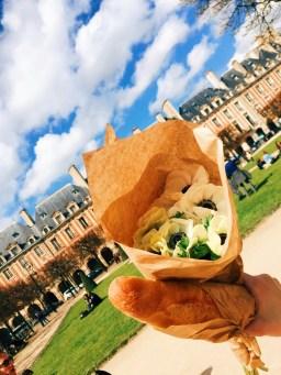 Fresh Baguette in Le Marais in Paris