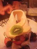 Giant fortune cookie dessert for my birthday at Tao!