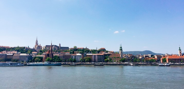 Looking over to Buda from Pest