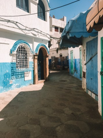 Much of this city was painted in shades of blue