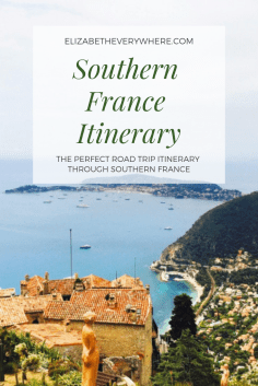 Southern France itinerary