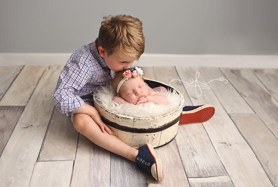 Nautical Newborn Photography Session | CT Newborn Photographer Elizabeth Frederick Photography