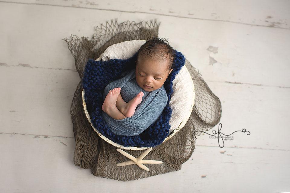 Nautical Newborn photography session CT Newborn Photographer Elizabeth Frederick Photography