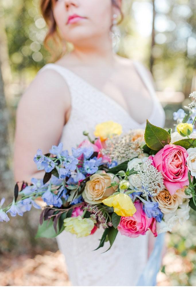 Disney Inspired Florals, Vibrant Florals, South Carolina Bride