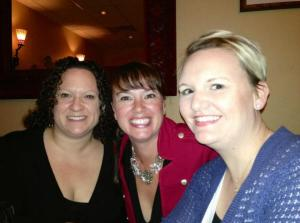 Two of my fave people, writers Becca Donovan and Steph Campbell.