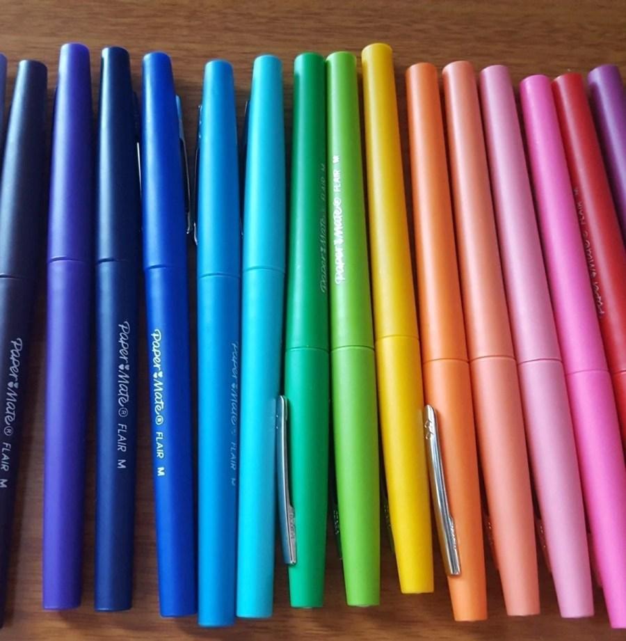 papermate flair felt tip pens