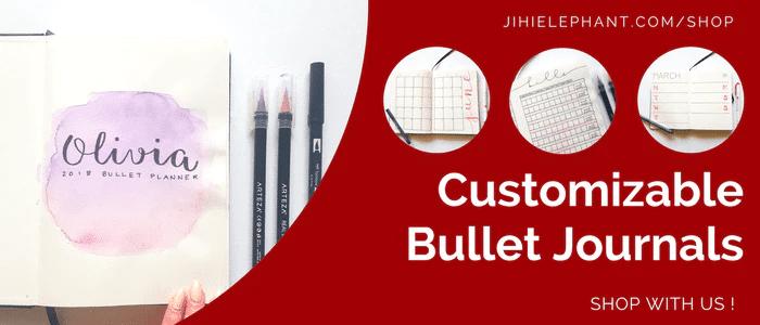 Customizable Hand-Drawn Bullet Journals