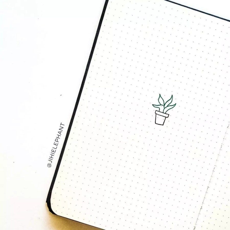 houseplant doodle bullet journal