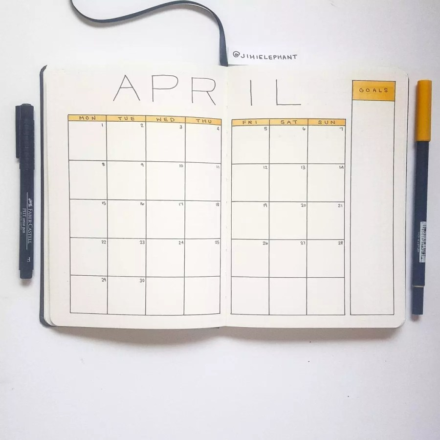 yellow april month