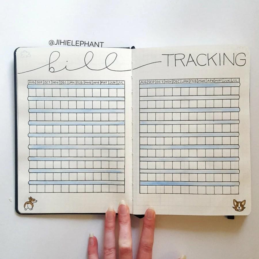 blue bill track finances Grace