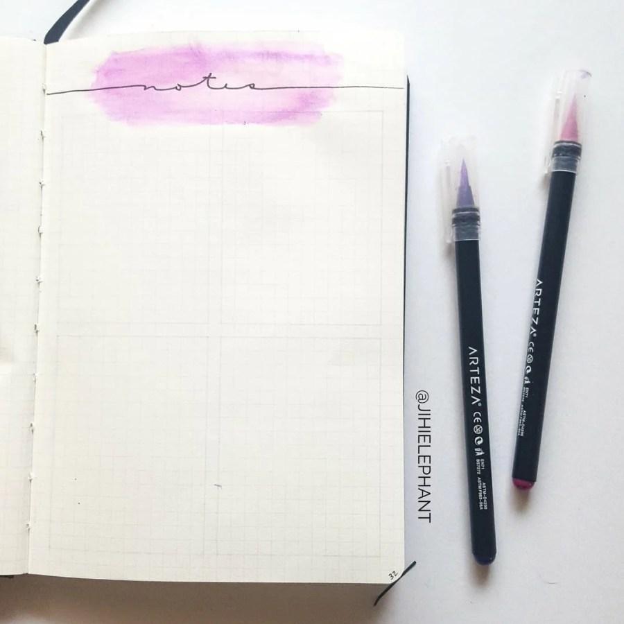 pink purple notes Olivia