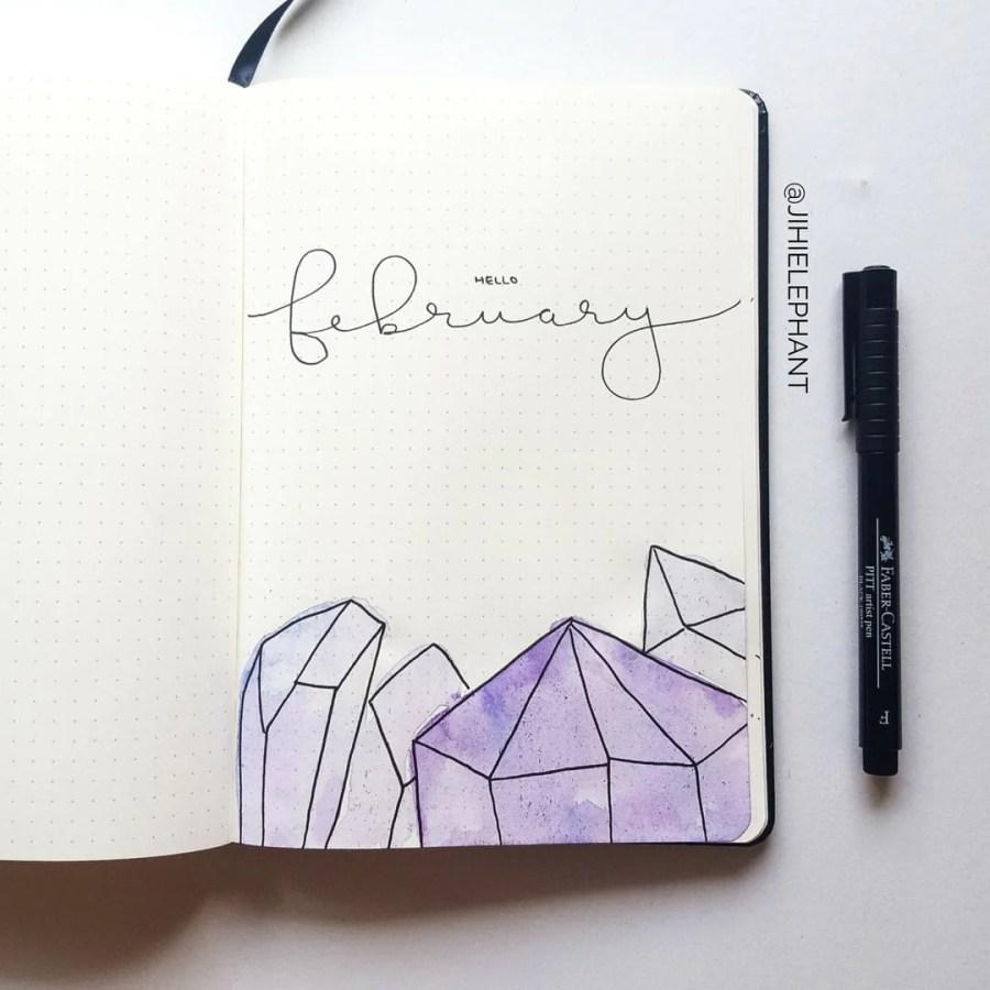 purple february crystal title Sam