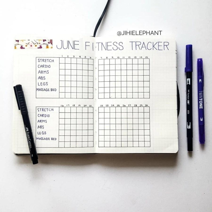 purple june fitness track alyssa