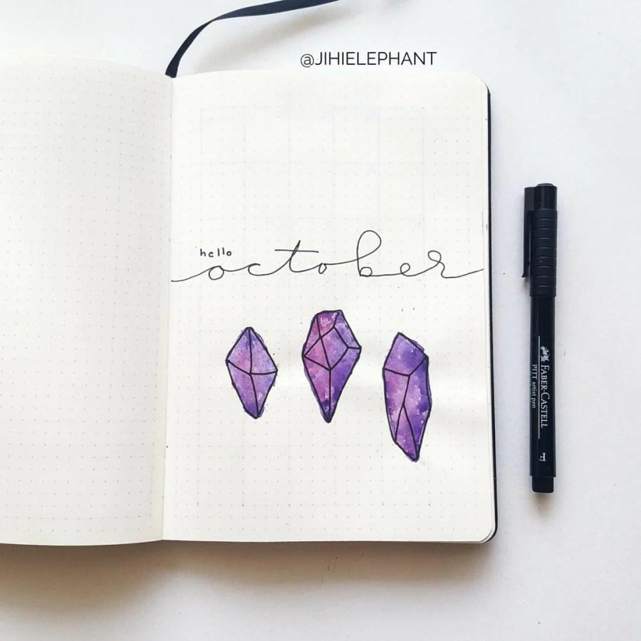 purple october crystal title Sam