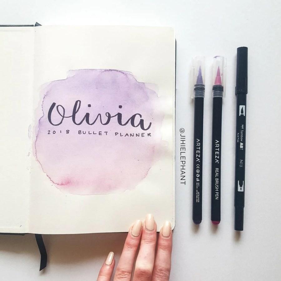 purple pink title Olivia